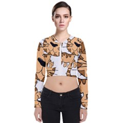 Cats Kittens Animal Cartoon Moving Bomber Jacket