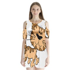 Cats Kittens Animal Cartoon Moving Shoulder Cutout Velvet One Piece