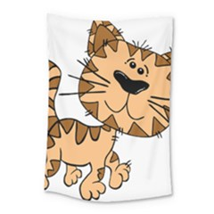 Cats Kittens Animal Cartoon Moving Small Tapestry