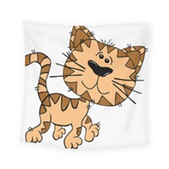 Cats Kittens Animal Cartoon Moving Square Tapestry (small)