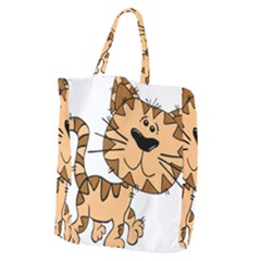 Cats Kittens Animal Cartoon Moving Giant Grocery Zipper Tote
