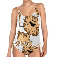Cats Kittens Animal Cartoon Moving Tankini Set