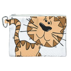 Cats Kittens Animal Cartoon Moving Canvas Cosmetic Bag (xl)