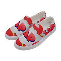 Comic Bubble Popart Cartoon Action Women s Canvas Slip Ons by Simbadda