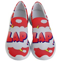 Comic Bubble Popart Cartoon Action Women s Lightweight Slip Ons by Simbadda