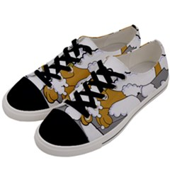 Dog Bath Grooming Men s Low Top Canvas Sneakers by Simbadda