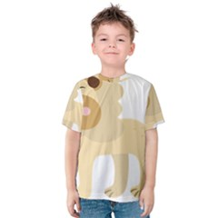 Lion Cute Sketch Funny Kids  Cotton Tee