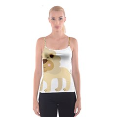 Lion Cute Sketch Funny Spaghetti Strap Top by Simbadda