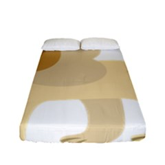 Lion Cute Sketch Funny Fitted Sheet (full/ Double Size) by Simbadda
