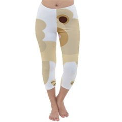 Lion Cute Sketch Funny Capri Winter Leggings