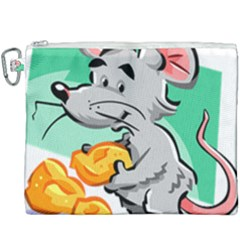 Mouse Cheese Tail Rat Hole Canvas Cosmetic Bag (xxxl) by Simbadda