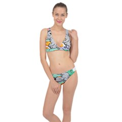 Mouse Cheese Tail Rat Hole Classic Banded Bikini Set
