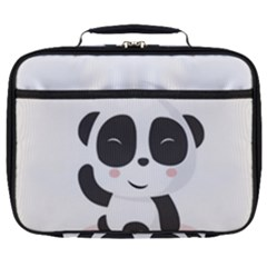 Panda Bear Funny Cute Full Print Lunch Bag by Simbadda