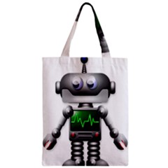 Robot Zipper Classic Tote Bag by Simbadda