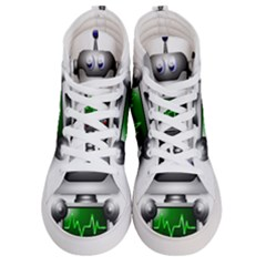 Robot Men s Hi Top Skate Sneakers