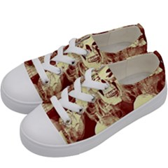 Skullsspooky Bywhacky Kids  Low Top Canvas Sneakers by bywhacky