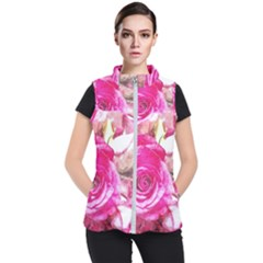 Rose Watercolour Bywhacky Women s Puffer Vest