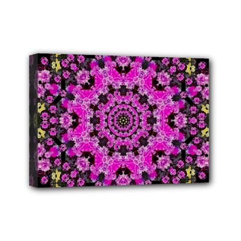 Namaste Decorative Flower Pattern Of Floral Mini Canvas 7  X 5  by pepitasart