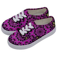 Namaste Decorative Flower Pattern Of Floral Kids  Classic Low Top Sneakers by pepitasart