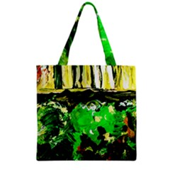 Old Tree And House With An Arch 6 Grocery Tote Bag by bestdesignintheworld