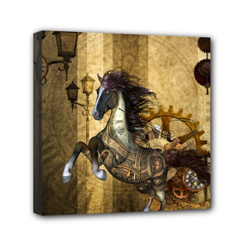 Awesome Steampunk Horse, Clocks And Gears In Golden Colors Canvas Travel Bag by FantasyWorld7
