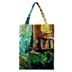 Old Tree And House With An Arch 5 Classic Tote Bag by bestdesignintheworld