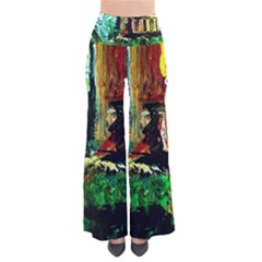 Old Tree And House With An Arch 5 So Vintage Palazzo Pants by bestdesignintheworld