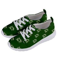 Canal Flowers Cream On Green Bywhacky Women s Lightweight Sports Shoes by designbywhacky