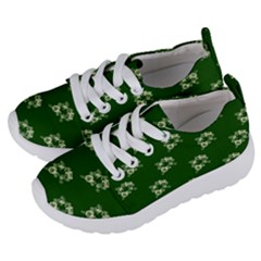 Canal Flowers Cream On Green Bywhacky Kids  Lightweight Sports Shoes by bywhacky