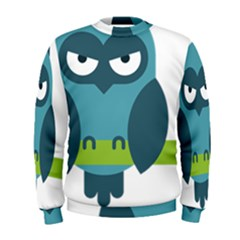 Owl Comic Animal Men s Sweatshirt
