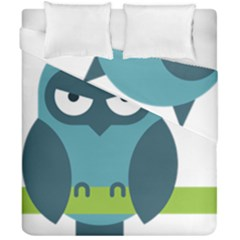Owl Comic Animal Duvet Cover Double Side (california King Size) by Simbadda