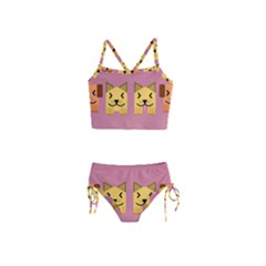 Pet Animal Feline Domestic Animals Girls  Tankini Swimsuit