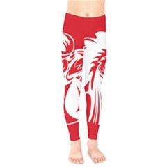 Cock Logo Emblem Symbol France Kids  Legging by Simbadda