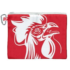 Cock Logo Emblem Symbol France Canvas Cosmetic Bag (xxl)