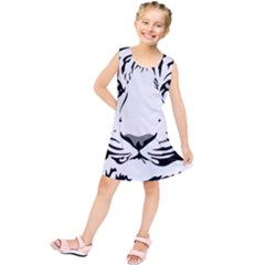 Tiger Pattern Animal Design Flat Kids  Tunic Dress
