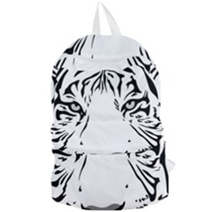 Tiger Pattern Animal Design Flat Foldable Lightweight Backpack