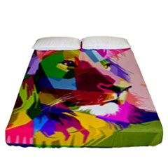 Animal Colorful Decoration Lion Fitted Sheet (king Size)