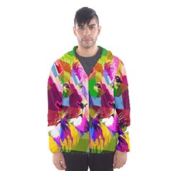Animal Colorful Decoration Lion Hooded Windbreaker (men)