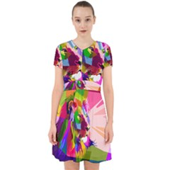 Animal Colorful Decoration Lion Adorable In Chiffon Dress