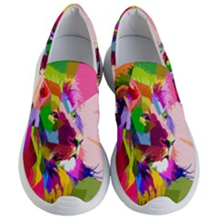 Animal Colorful Decoration Lion Women s Lightweight Slip Ons
