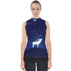 Design Painting Sky Moon Nature Shell Top