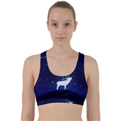 Design Painting Sky Moon Nature Back Weave Sports Bra by Simbadda