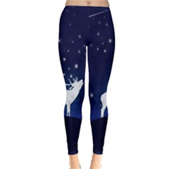 Design Painting Sky Moon Nature Inside Out Leggings
