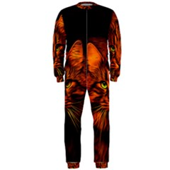Cat Digiart Artistically Cute Onepiece Jumpsuit (men)  by Simbadda