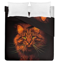 Cat Digiart Artistically Cute Duvet Cover Double Side (queen Size)