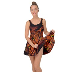 Cat Digiart Artistically Cute Inside Out Casual Dress