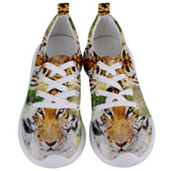 Tiger Watercolor Colorful Animal Women s Lightweight Sports Shoes