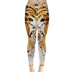 Tiger Watercolor Colorful Animal Inside Out Leggings