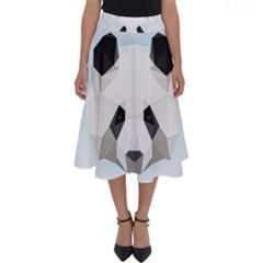 Background Show Graphic Art Panda Perfect Length Midi Skirt