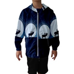 Moon Hirsch Wild Nature Antler Hooded Windbreaker (kids)
